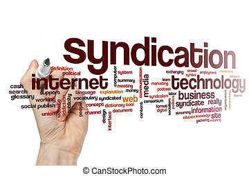 mot, syndication, nuage