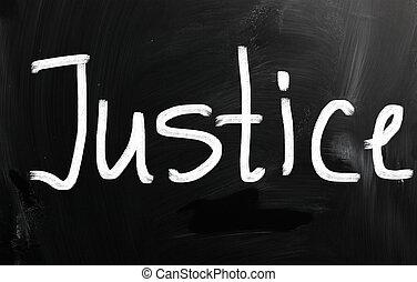 """mot, tableau noir, craie, """"justice"""", blanc, manuscrit"""