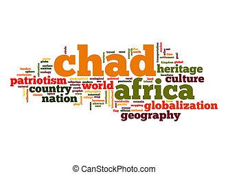 mot, tchad, nuage