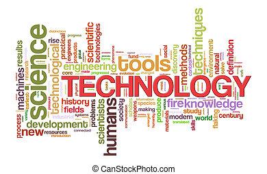 mot, technologie, étiquettes