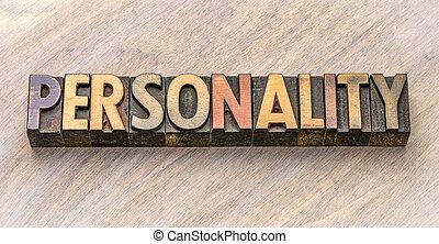 mot, type, bois, personnalité