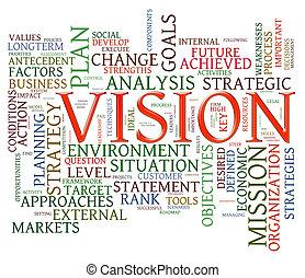 mot, vision, étiquettes