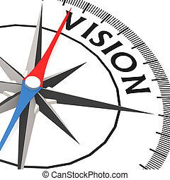 mot, vision, compas