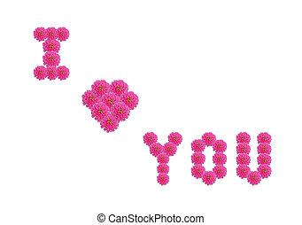 mot, vous, amour
