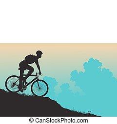 motard montagne