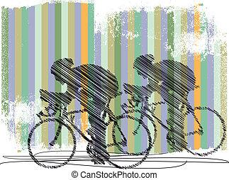 motards, illustration