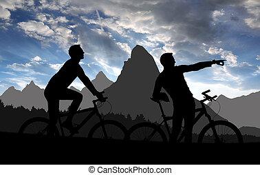 motards, montagne