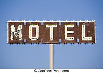 motel cégtábla