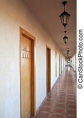 motel, couloir