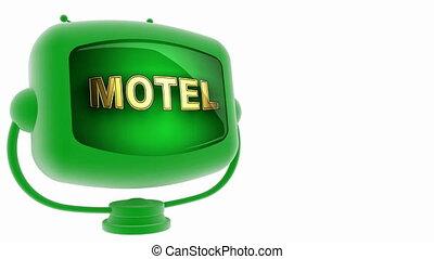 motel -  on loop alpha mated tv