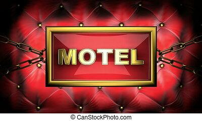 motel  on velvet background