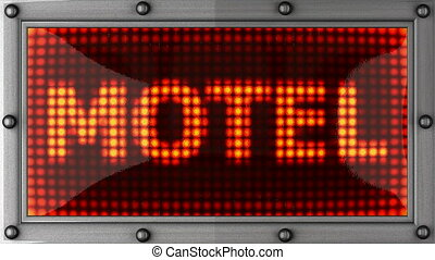 motel  announcement on the LED display