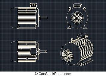 moteur, électrique, dessins