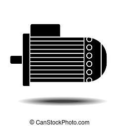 moteur électrique, icône