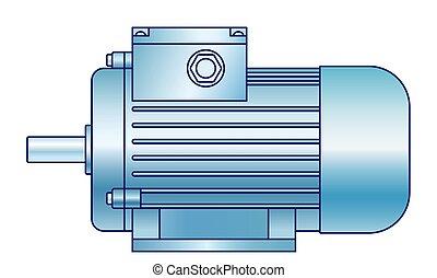 moteur, électrique, illustration