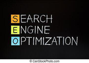 moteur, acronyme, recherche, optimization
