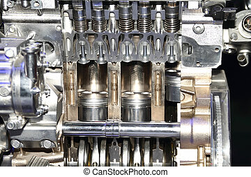 moteur, automobile