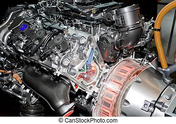 moteur, automobile, hybride