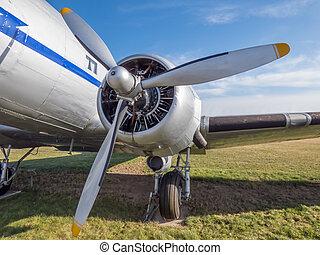 moteur, avion, vieux