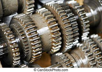 moteur, boîte, engrenage, transmission, automobile, ou