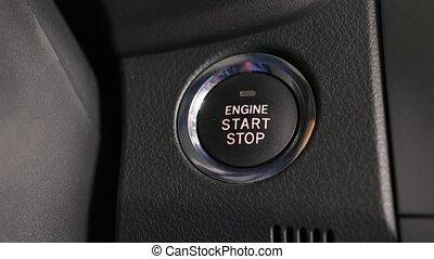 moteur, bouton marche