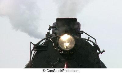 moteur, canal transmission vapeur, train