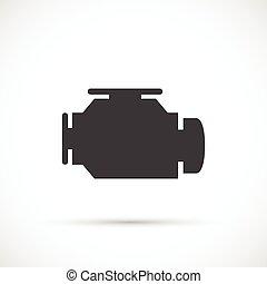 moteur, chèque, icône