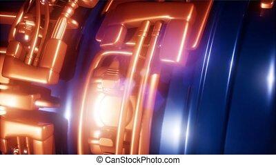 moteur, concept, jet, partie, avion, avion, turbine