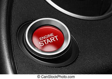moteur, Début, bouton