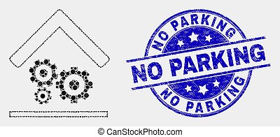 moteur, gratté, service, non, timbre, garage stationnement, vecteur, cachet, point, icône