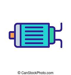 moteur, icône, électrique, vecteur, contour, illustration