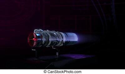 moteur, jet, aérodynamique, poussée, noir, essai, ...