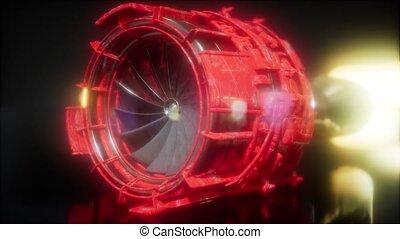 moteur jet, turbine, parties