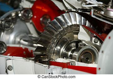 moteur, jet, vues, (other, détail, grand, au-dessous, ...