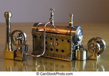 moteur, modèle, vapeur