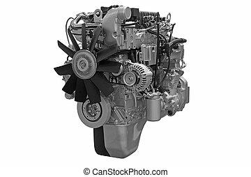 moteur, puissant, diesel