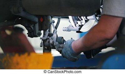 moteur, réparations, torsions, soupape, composant, mécanicien, car's