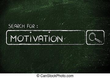 moteur, recherche, motivation, barre
