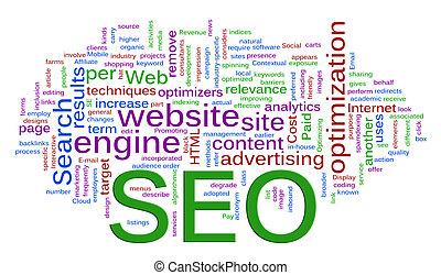 moteur, recherche, -, wordcloud, optimization, seo