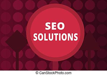 moteur, solutions., recherche, concept, mot, business, texte, écriture, augmentation, visiteurs, résultat, rankings, seo, page