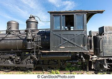 moteur, taxi,  train, vieux, vapeur