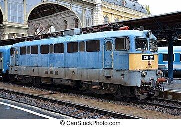 moteur, train, hongrois