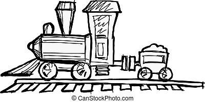 moteur, train jouet, vapeur