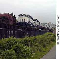 moteur, train