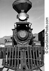 moteur, train, vieux, vapeur