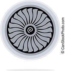 moteur, turbine, jet