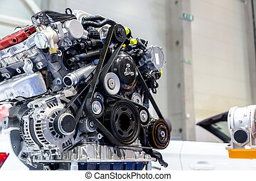 moteur, turbo, voiture