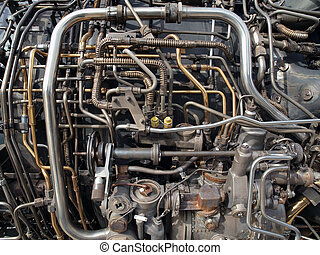 moteur, tuyauterie, jet