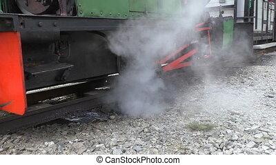moteur, vapeur, locomotive
