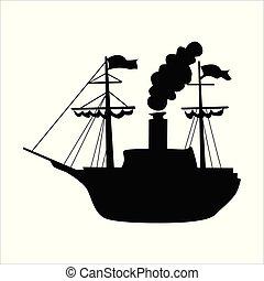 moteur, vapeur, voile